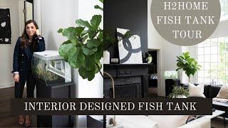 INTERIOR DESIGNED AQUARIUM | PetSmart H2ome & Decor Tank Tour | Planted aquarium