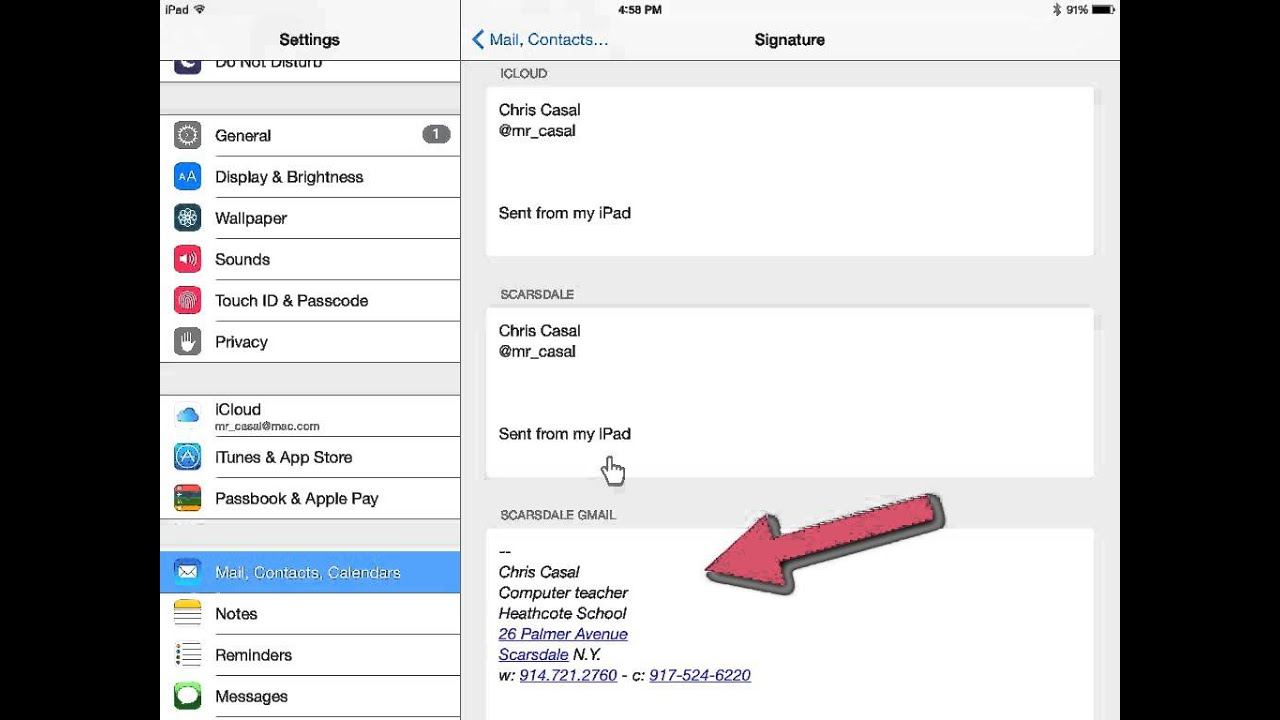 Scarsdale GMail - mobile signature - YouTube