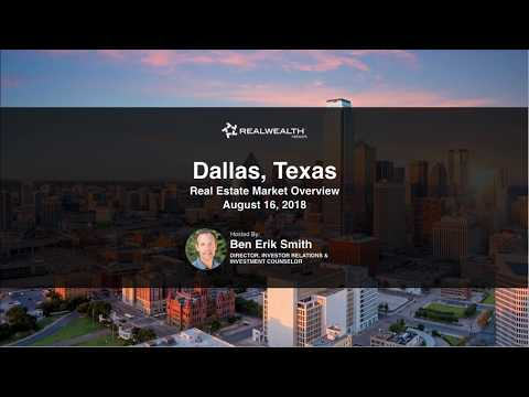 Dallas Real Estate Market Update [August 2018]