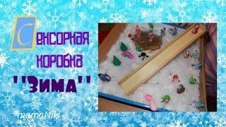 видео Зимняя сенсорная коробка для детей
