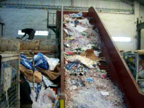 Waste paper baler machine in Argentina