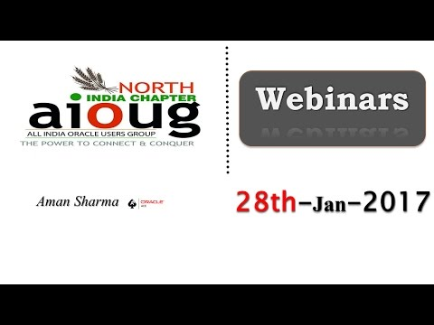 North India Chapter Webinar Jan 2017 - Oracle 12c Multitenant Introduction by Aman SharmaOracle ACE