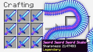 "Minecraft UHC but you can craft a ""Sword Snake"".."