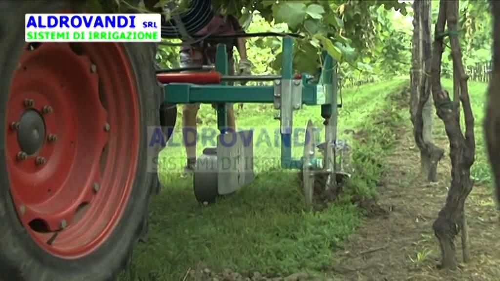 Irrigazione vigneto con ala gocciolante interrata for Irrigazione vigneto
