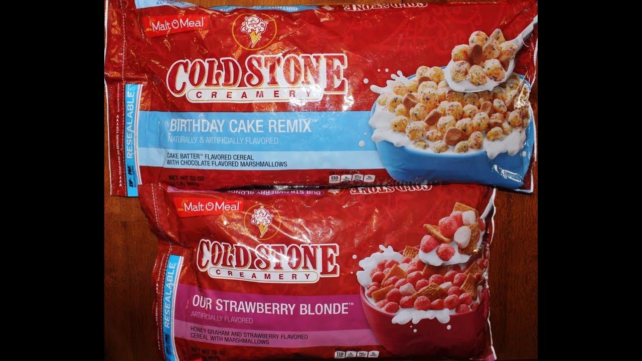 Malt O Meal Cold Stone Creamery Cereal Birthday Cake Remix Our