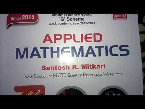 formula for M3-applied mathematics 3-sem 2nd year diploma MSBTE