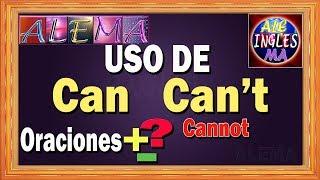 Uso de Can y Can't en Ingles  - Oraciones  Negativas e Interrogativas Con CAN Y CAN'T - Lección # 17