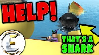 HELP ME SHARK IS ATTACKING MY BOAT in ROBLOX | Sharkbite Roblox