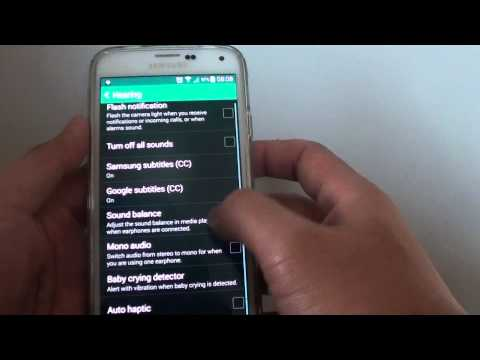 Samsung Galaxy S5: How to Switch Audio Sound to Mono or Stereo