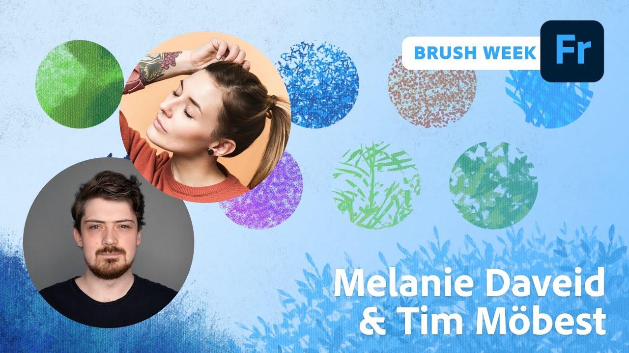 Brush Week: Illustration mit Melanie Daveid und Tim Möbest  Adobe Live