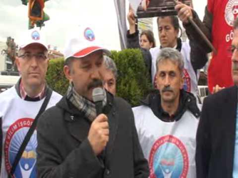 Yatağan'dan başlattığımız Laik Eğitim ve Emeğe saygı yürüyüşümüzde işçi sendikaları ile birlikte madenci anıtının önünde basın açıklamamızı gerçekleştirdik.