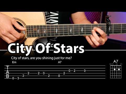 City Of Stars Cover con acordes para guitarra (guitar cover)  | Guitarraviva
