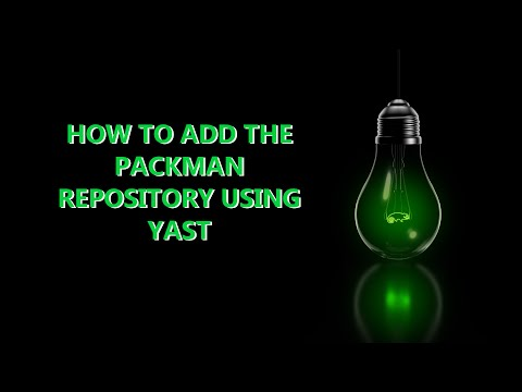 openSUSE Leap - How to add Packman repository using Yast
