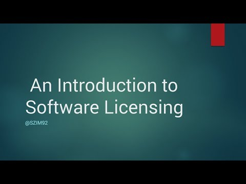 An Introduction to Software Licensing - Steven Zimmerman
