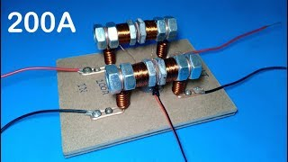 World biggest 200A relay , DIY a big relay from screws , Best project 2019