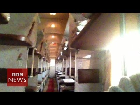 'Ghost train' from Moscow to Mariupol - BBC News