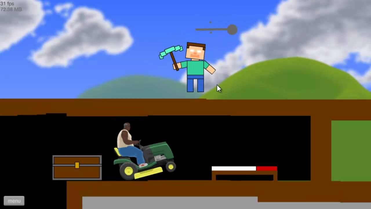 Happy Wheels Part 17 Minecraft Levels Herobrine Youtube