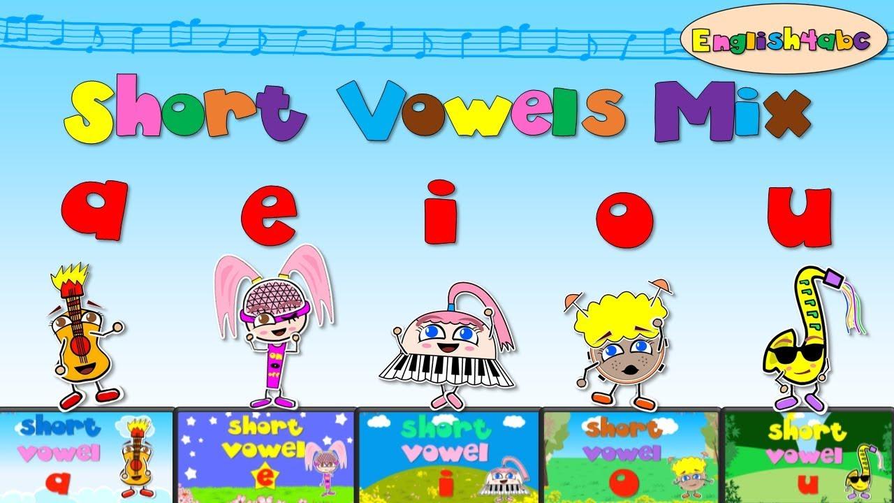 Download Short Vowels Mix - aeiou (five videos) - Phonics songs