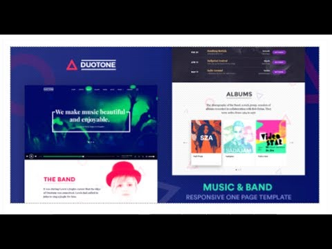 Music band responsive website template duotone themeforest music band responsive website template duotone themeforest download pronofoot35fo Choice Image