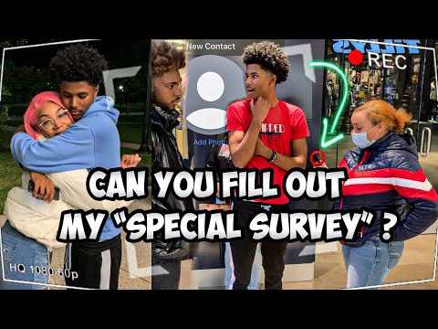 "Asking Girls To Fill Out My ""SPECIAL"" Survey 😁 *HER BOYFRIEND WATCHED*"