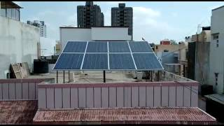 Solar home lighting system with AC,motor,washing machine