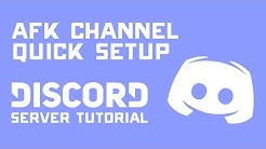 Setting Up a DISCORD AFK Channel - Voice Chat Server Tutorial