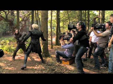 BLANCA NIEVES Y EL CAZADOR - En el set: 'El Cazador pelea con Finn'