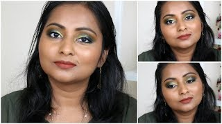 How to create a Green Olive Smokey Eye | Makeup Tutorial for Indian Skin Tone