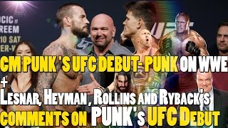 CM Punk UFC 203  - CM PUNK VS MICKEY GALL ( Ryback, Lesnar, Heyman and Rollins's Comments))