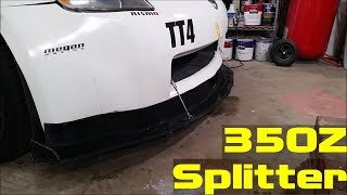 homepage tile video photo for Nissan 350Z Alumalite Splitter (Part 1)