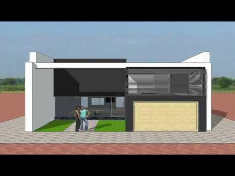 Dise os de fachadas de casas youtube Disenos de casas contemporaneas pequenas