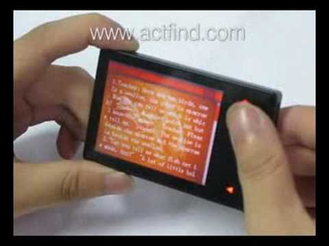 Shake to Change Songs 2.8 inch Screen SAMSUNG Chip MP4 Playe