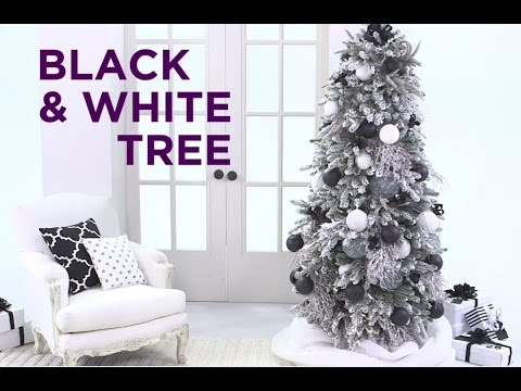 Holiday Quick Take: Decorate a Black and White Christmas Tree