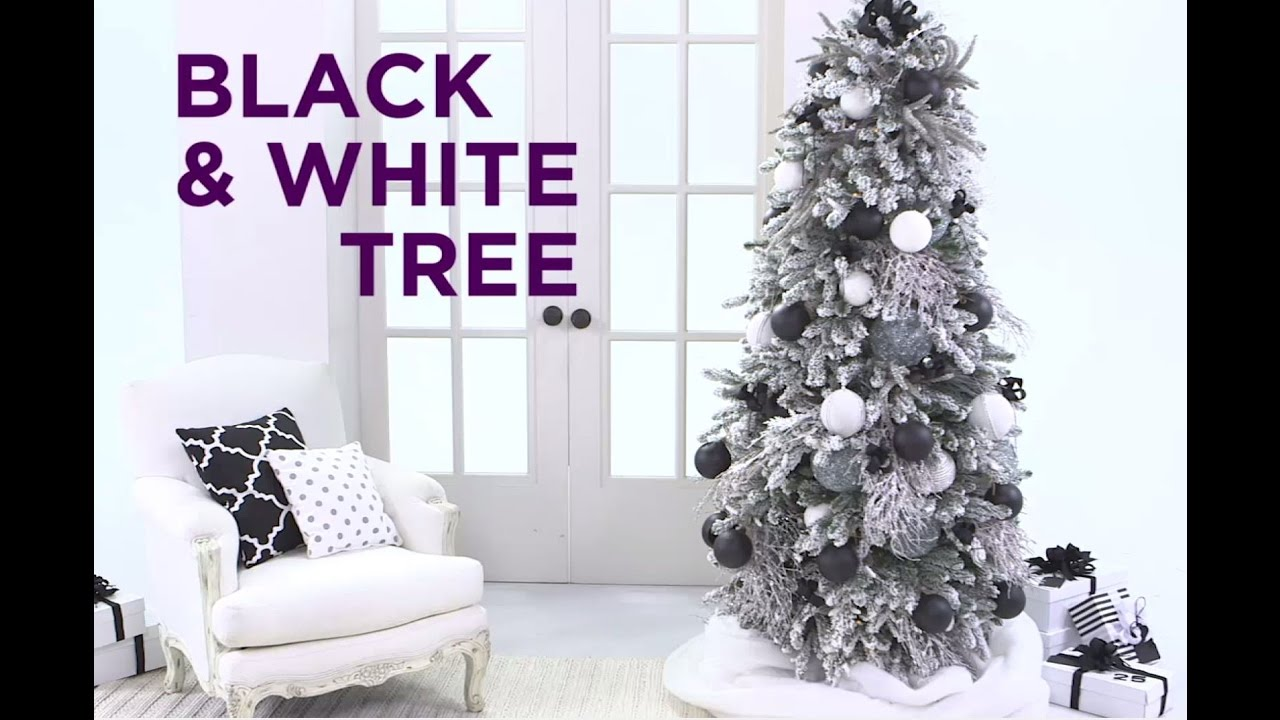 Essential Christmas Decorations.How To Decorate A Black And White Christmas Tree Holiday Essentials
