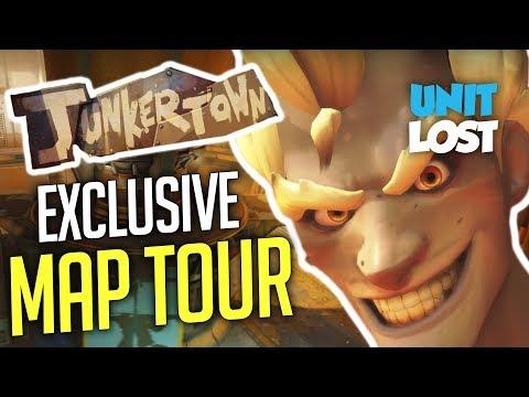 Overwatch - Junkertown WORLD EXCLUSIVE Map Tour!
