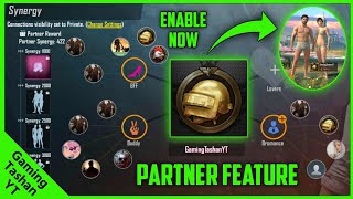 HOW TO ENABLE PARTNER FEATURE IN PUBG MOBILE LITE? BFF, BUDDY, BROMANCE & LOVER! ALL EXPLAINED!