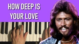 Bee Gees - How Deep Is Your Love (Piano Tutorial Lesson)