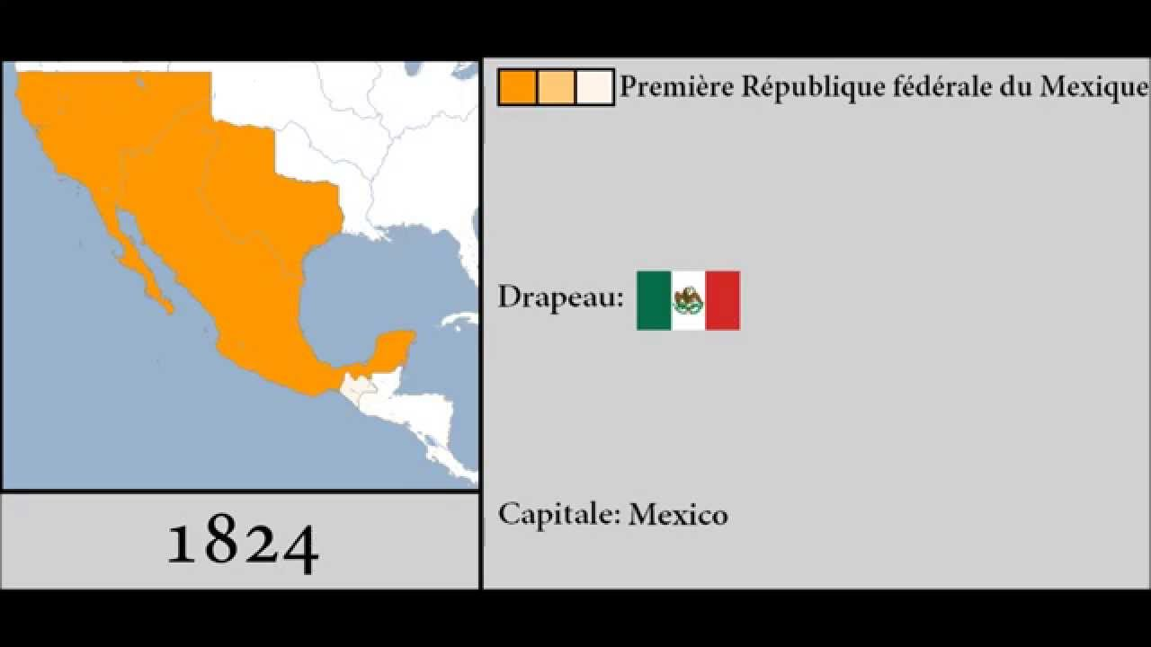 History of Mexico 18212015 YouTube – Map of Mexico 1821