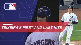 A look at Mark Teixeira's first and last MLB hits
