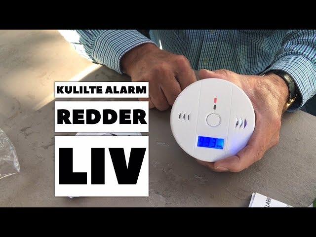 Kulilte alarm til campingvogn og autocamper