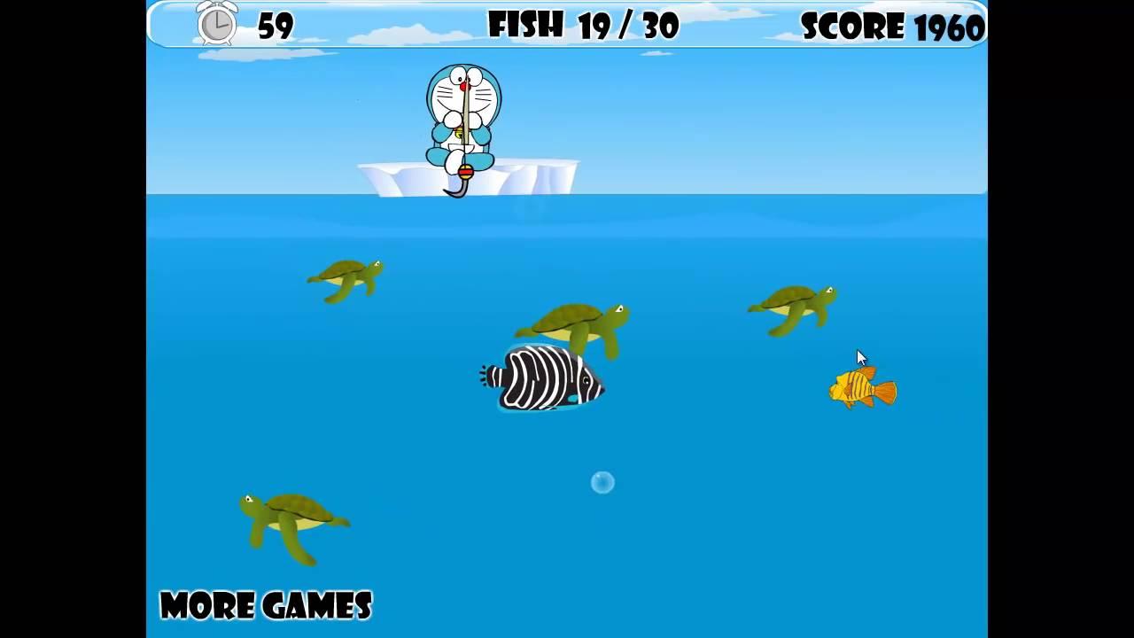 Game Doremon câu cá đại dương DORAEMON FISHING GAME GAME y8.com