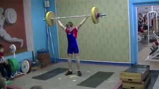Маклаков Тимур, 14 лет, вк 50 Рывок 57 кг