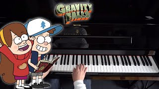 Gravity Falls Theme Song - Piano Tutorial видео