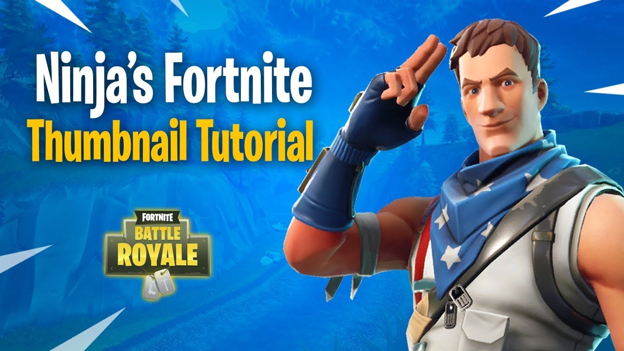 How To Make Fortnite Thumbnails Just Like Ninja With Free Template