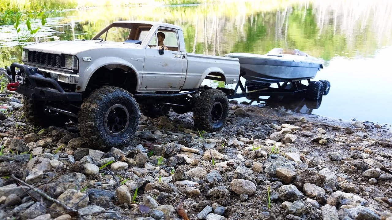 Rc Boat Launch 4x4 Rc Truck With Boat Trailer In 4k