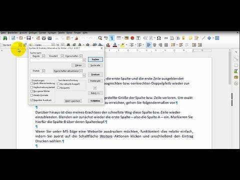 Writer Vs Word T21 Doppelte Absatzmarken Loschen Youtube