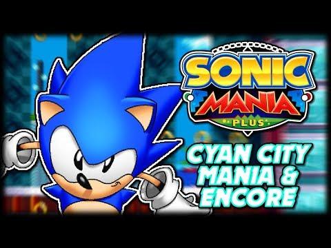 Cyan City In Mania & Encore Modes | Sonic Mania Plus Mod Showcase