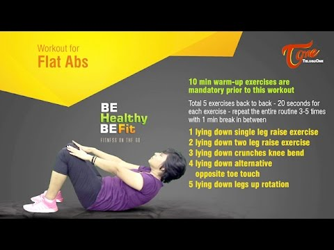 Workout for Flat Abs | Be Healthy Be Fit | by Paulomi