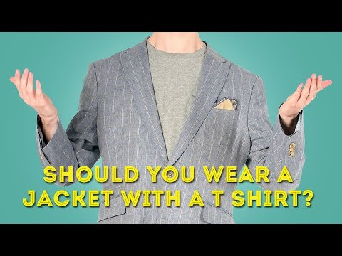 Should You Wear a Suit Jacket or Blazer with a T-Shirt?