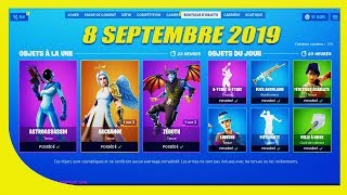FORTNITE BOUTIQUE of September 8, 2019! New genmini skin!